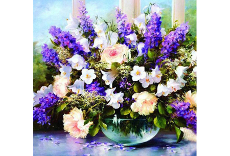 Diamond painting bloemen | Creëer zelf de allermooiste bloemen schilderijen #7