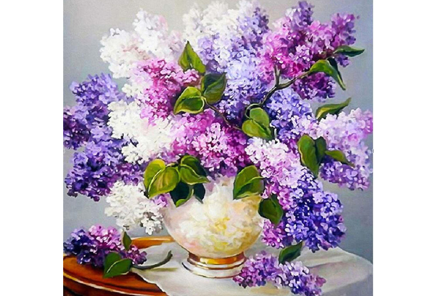 Diamond painting bloemen #11 - 40 x 40 cm