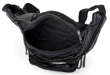 Leren heuptasje | Unisex fanny pack met handige vakken