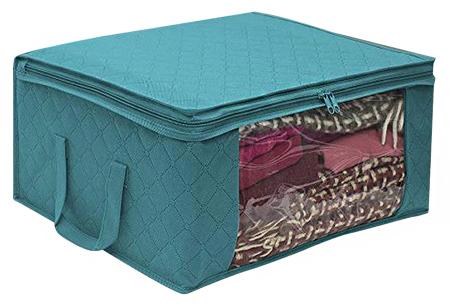 Kleding opbergbox met rits | Voor het ordenen van al jouw zomer- en winterkleding - Per 1, 3 of 6 stuks Blauw
