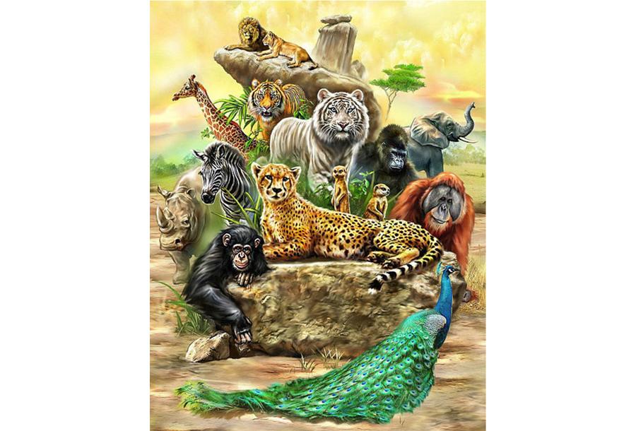 Diamond painting Wildlife schilderijen #2 - 55 x 70 cm