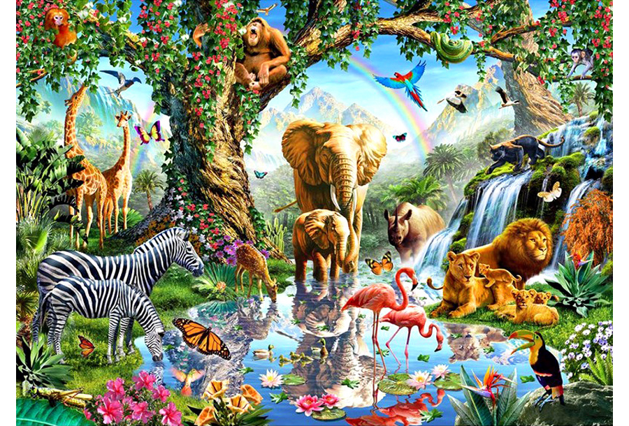 Diamond painting Wildlife schilderijen #3 - 55 x 70 cm