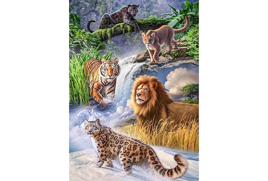 Diamond painting Wildlife schilderijen #4 - 40 x 50 cm