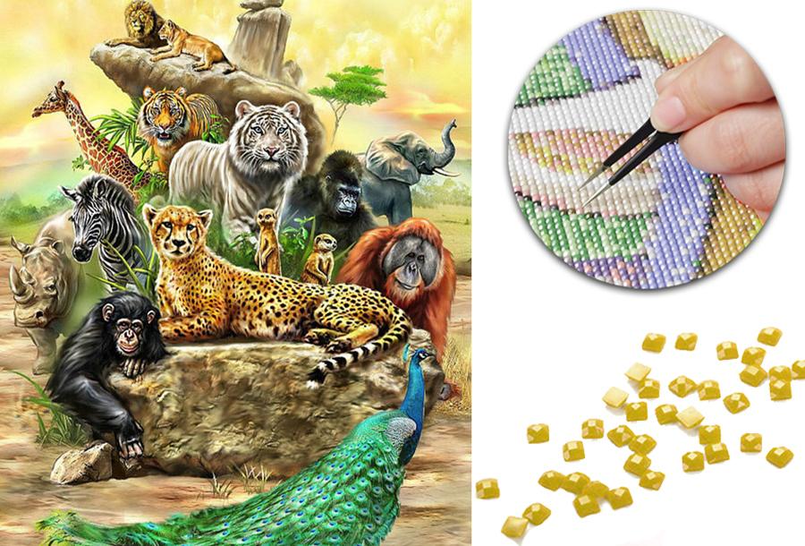 Compleet Diamond painting pakket nu in de sale