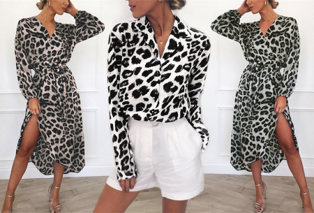 Panterprint jurk en blouse | Comfortabele en luchtige kledingstukken