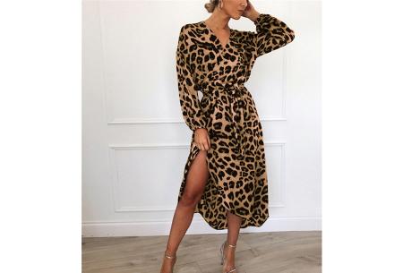 Panterprint jurk en blouse | Comfortabele en luchtige kledingstukken Bruin
