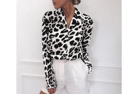Panterprint jurk en blouse | Comfortabele en luchtige kledingstukken Wit