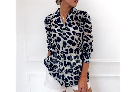 Panterprint jurk en blouse | Comfortabele en luchtige kledingstukken Grijs