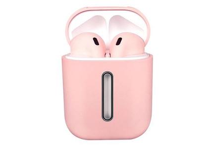 Draadloze bluetooth earbuds | Oordopjes met luxe oplaadcase - Keuze uit 5 kleuren!  Roze