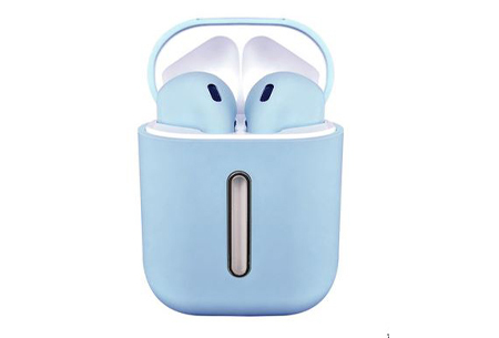 Draadloze bluetooth earbuds | Oordopjes met luxe oplaadcase - Keuze uit 5 kleuren!  Blauw