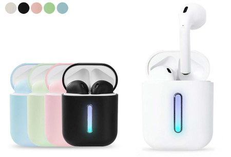 Draadloze bluetooth earbuds | Oordopjes met luxe oplaadcase - Keuze uit 5 kleuren!