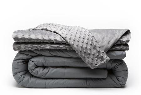 Verzwaringsdeken van Swiss Nights | Val gemakkelijker in slaap met deze verzwaarde deken - Met of zonder hoes! + minky hoes