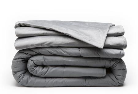 Verzwaringsdeken van Swiss Nights | Val gemakkelijker in slaap met deze verzwaarde deken - Met of zonder hoes! + velvet hoes