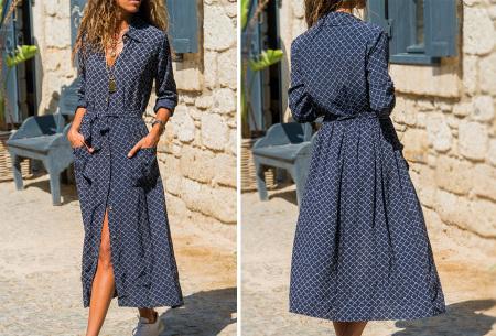 Lange blousejurk | Trendy maxi jurk met lange mouwen #1
