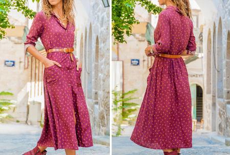 Lange blousejurk | Trendy maxi jurk met lange mouwen #2