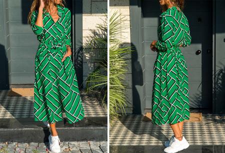 Lange blousejurk | Trendy maxi jurk met lange mouwen #3