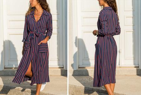 Lange blousejurk | Trendy maxi jurk met lange mouwen #4