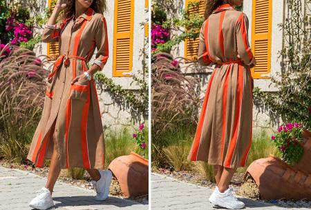 Lange blousejurk | Trendy maxi jurk met lange mouwen #5