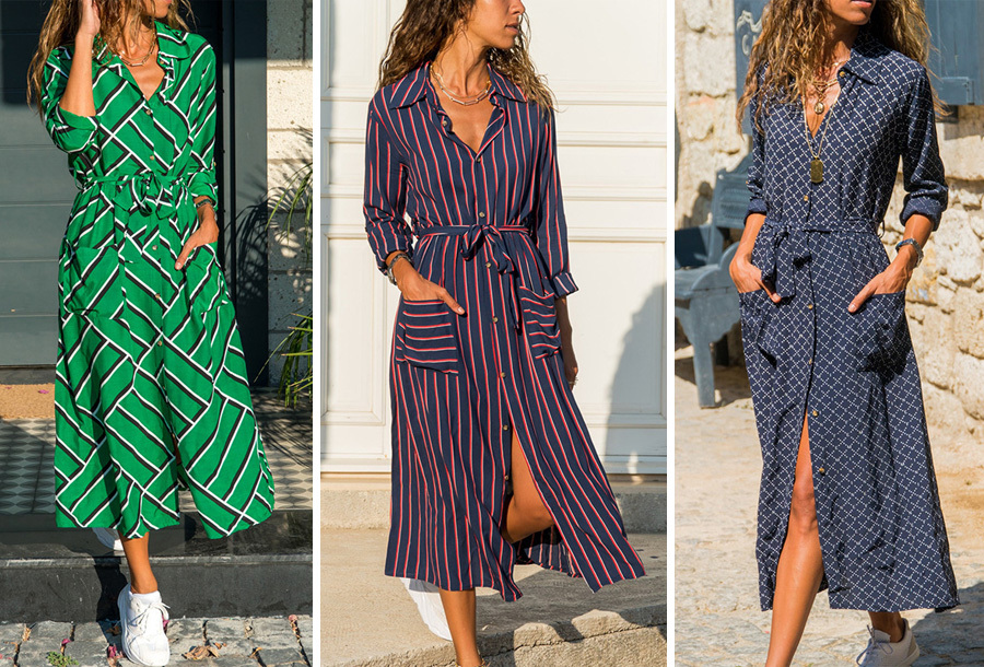 Lange blousejurk - sale