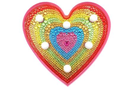 Diamond painting nachtlamp | Kies uit beertjes, hartjes of een unicorn! #D