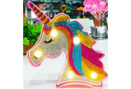 Diamond painting nachtlamp | Kies uit beertjes, hartjes of een unicorn!