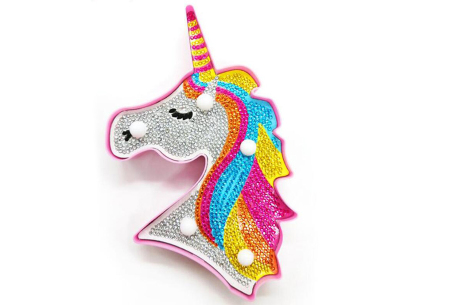 Diamond painting nachtlamp | Kies uit beertjes, hartjes of een unicorn! #A