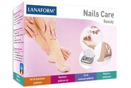 Manicure- en pedicureset van Lanaform | Elektrische tool met 8 opzetstukken