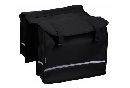 Dunlop fietszadel en -tassen   Comfortabel gelzadel en ruime fietstassen!  Fietstas - zwart