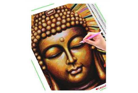 Diamond painting boeddha | Compleet pakket - kies uit 15 uitvoeringen!