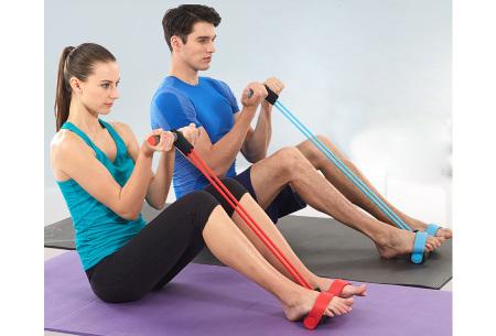 Fitness apparaat met weerstandsbanden | Been-, arm- én buikspiertrainer voor thuis