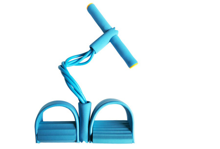 Fitness apparaat met weerstandsbanden | Been-, arm- én buikspiertrainer voor thuis Blauw