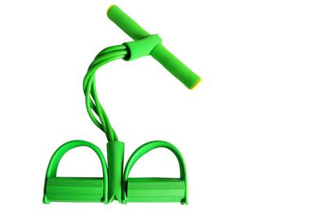 Fitness apparaat met weerstandsbanden | Been-, arm- én buikspiertrainer voor thuis Groen