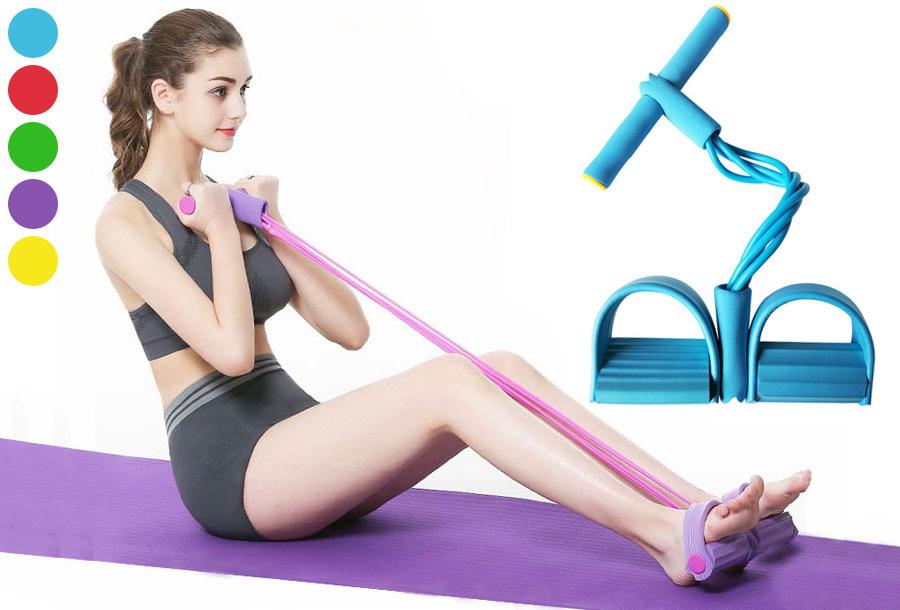 Fitnessapparaat met weerstandsbanden in de sale