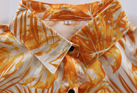 Palm blousejurk | Lange zomerjurk met trendy print