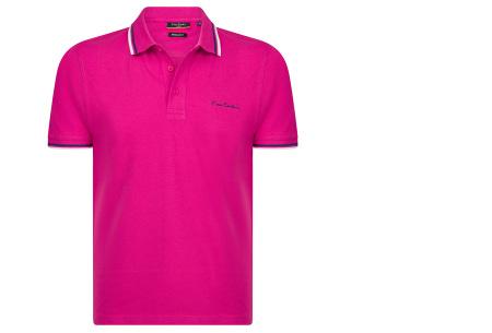 Pierre Cardin polo | Hip en zomers polo shirt met gestreepte details voor heren fuchsia