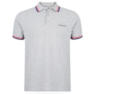 Pierre Cardin polo | Hip en zomers polo shirt met gestreepte details voor heren grijs