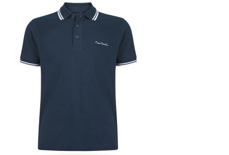Pierre Cardin polo | Hip en zomers polo shirt met gestreepte details voor heren navy