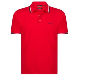 Pierre Cardin polo | Hip en zomers polo shirt met gestreepte details voor heren rood