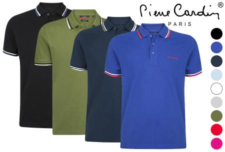 Pierre Cardin polo | Hip en zomers polo shirt met gestreepte details voor heren