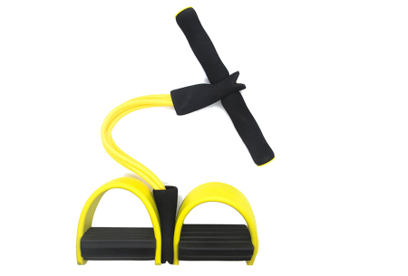 Fitness apparaat met weerstandsbanden | Been-, arm- én buikspiertrainer voor thuis Geel