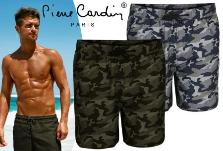 Pierre Cardin zwembroek met camouflage print | Hippe leger zwemshorts voor heren