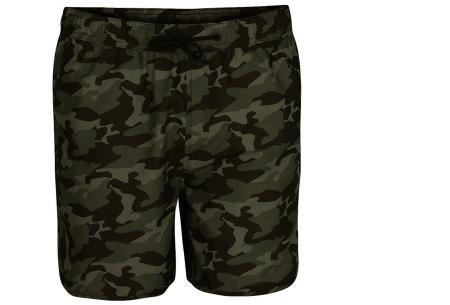 Pierre Cardin zwembroek met camouflage print | Hippe leger zwemshorts voor heren khaki