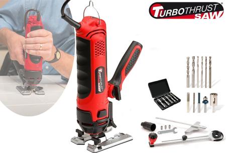 Turbo Thrust Saw | Handige multitool met 18-delige accessoire set!