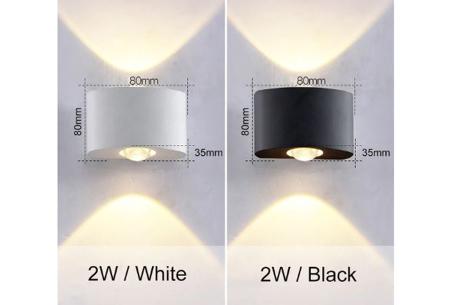 Design led-wandlampen | Luxe binnen- en buitenlamp in diverse uitvoeringen  2W