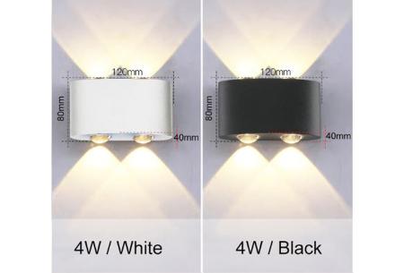 Design led-wandlampen | Luxe binnen- en buitenlamp in diverse uitvoeringen  4W