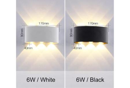 Design led-wandlampen | Luxe binnen- en buitenlamp in diverse uitvoeringen  6W