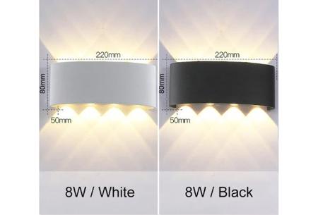 Design led-wandlampen | Luxe binnen- en buitenlamp in diverse uitvoeringen  8W
