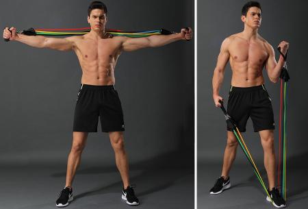 Weerstandsbanden set | Sport doelgericht vanuit huis met deze fitness elastieken!