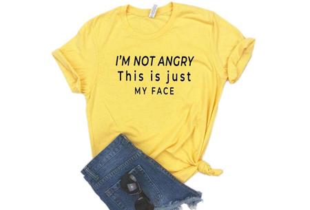 Dames T-shirt met tekst | Originele, grappige quotes - in 6 kleuren!  #2 - geel