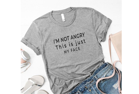 Dames T-shirt met tekst | Originele, grappige quotes - in 6 kleuren!  #2 - grijs